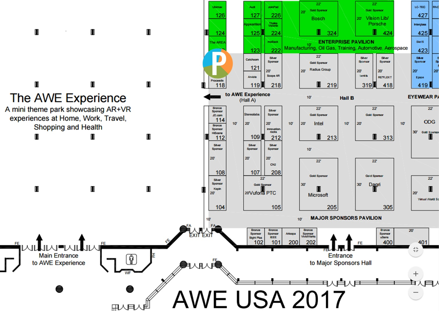 Augmented World Expo 2017 Floorplan_Pikkart srl